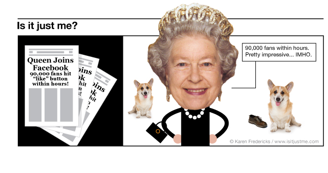 The Queen of England Joins Facebook!